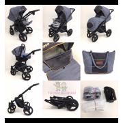 Camarelo Neso 3-1 Ne-3 (tumši pelēka / bēša) rati jaundzimušajiem