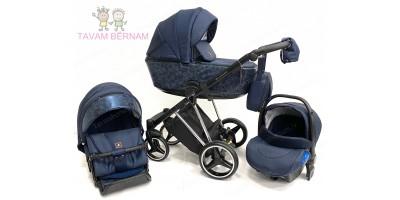 Adamex Cristiano Special Edition 3-1 Exclusive (tumši zila - sudraba), bērnu rati Adamex