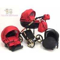 Adamex Chantal Special edition C7/A 3-1 (zelta - sarkana) bērnu rati Adamex