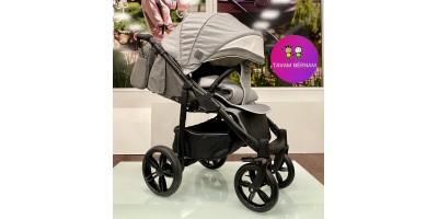 Camarelo Elix Ex-2 (pelēka) bērnu pastaigu rati