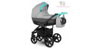 Camarelo Baleo 3-1 Ba-3 (pelēka / zila) bērnu kulbu rati