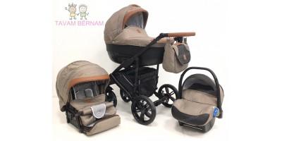 Camarelo Baleo 3-1 Ba-8 (bēša) bērnu kulbu rati