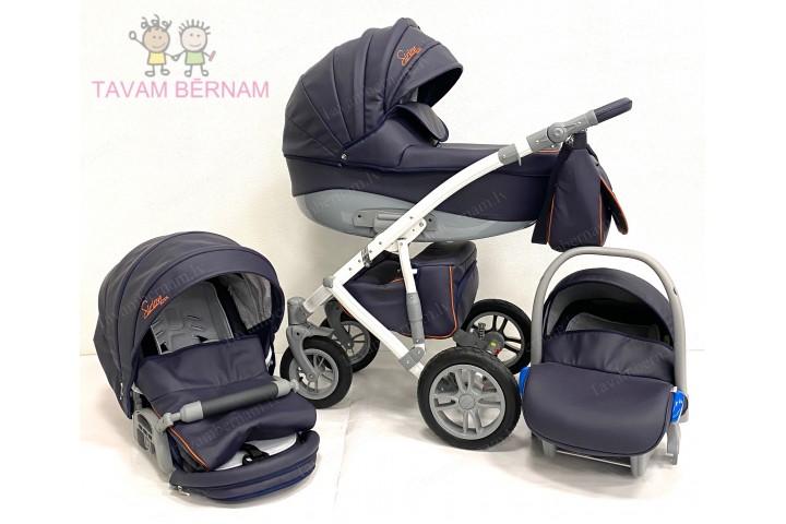 Camarelo Sirion Eco bērnu universālie ratiņi 3in1 col.SiE-3 (Eco Blue)