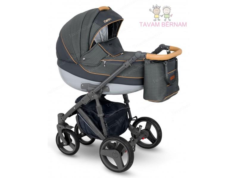 Camarelo Neso 3-1 Ne-4 (tumši pelēka / pelēka) rati jaundzimušajiem