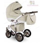 Camarelo Sirion Eco 3-1 SiE-1 (bēša) bērnu rati no eko-ādas