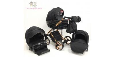 Adamex Chantal Special edition C8 3-1 (bronza - melna) bērnu rati Adamex