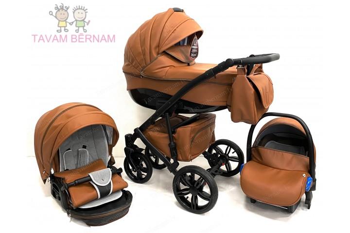 Camarelo Sirion Eco bērnu universālie ratiņi 3in1 col.SiE-11 (Eco Brown)