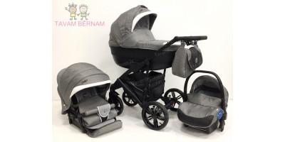 Camarelo Baleo 3-1 Ba-5 (pelēka) bērnu kulbu rati