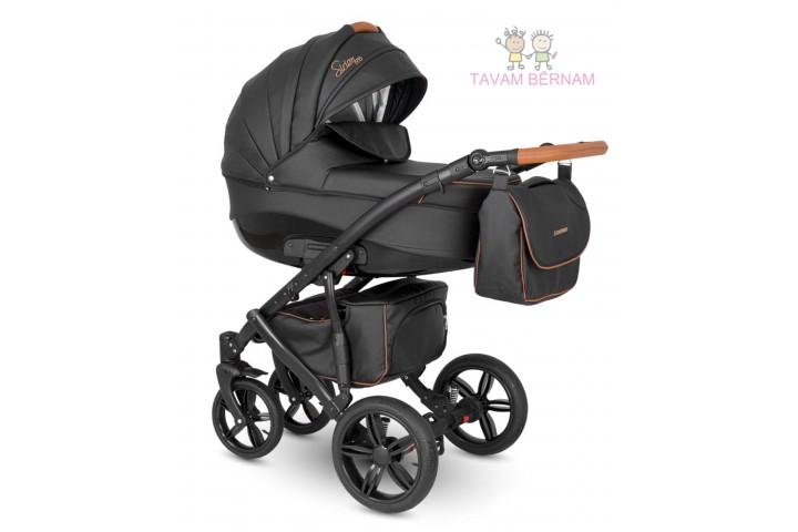 Camarelo Sirion Eco bērnu universālie ratiņi 3in1 col.SiE-10 (Eco Black)
