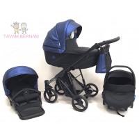 Bebetto Nitello Shine 02 (zila) bērnu rati trīs vienā