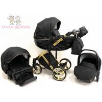 Adamex Chantal Special edition C1 3-1 (zelta - melna) bērnu rati Adamex