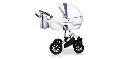 Verdi Eclipse bērnu universālie ratiņi 2in1 col.1 (Eco white/blue)