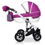 Verdi Eclipse bērnu universālie ratiņi 3in1 col.12 (Eco white/pink)