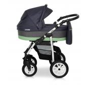 Verdi Laser bērnu universālie ratiņi 3in1 col.6 (Grey/green)