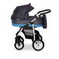 Verdi Laser bērnu universālie ratiņi 3in1 col.8 (Grey/blue)