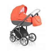 Roan Bass Soft bērnu universālie ratiņi 2in1 Summer collection col.Papaya