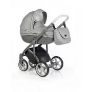 Roan Bass Soft bērnu universālie ratiņi 2in1 Denim collection col.Grey Dots