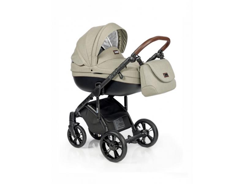 Roan Bass Soft bērnu universālie ratiņi 2in1 Basic collection col.Olive Garden