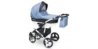 Camarelo Carera new bērnu universālie ratiņi 3in1 col.CAN-6 (denim blue)