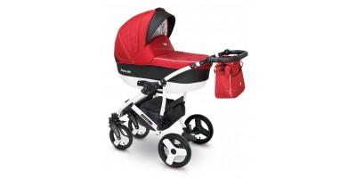 Camarelo Carera new bērnu universālie ratiņi 3in1 col.CAN-1 (denim red)