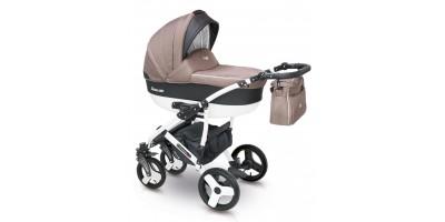 Camarelo Carera new bērnu universālie ratiņi 3in1 col.CAN-5 (denim dark beige)
