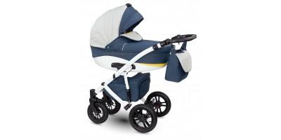 Camarelo Sirion bērnu universālie ratiņi 2in1 col.XSi-1 (Denim blue/Eco grey/yellow)
