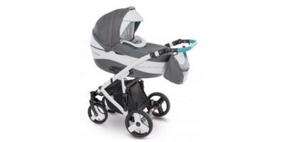 Camarelo Avenger bērnu universālie ratiņi 3in1col.AV-12 (grey/Eco white/blue)