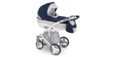 Camarelo Avenger bērnu universālie ratiņi 3in1col.AV-1 (Dark blue/Eco white)