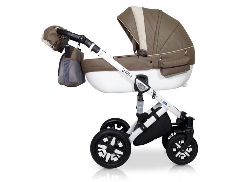 Verdi Eclipse bērnu universālie ratiņi 3in1 col.10 (Eco dark beige) white
