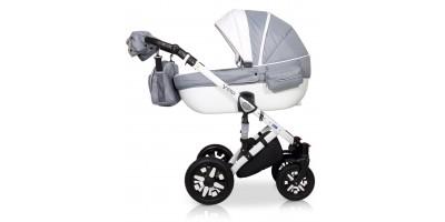 Verdi Eclipse bērnu universālie ratiņi 3in1 col.14 (Eco white/grey)