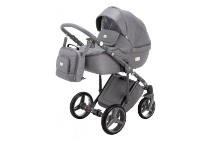Adamex Luciano bērnu universālie ratiņi 3in1 col.Grey