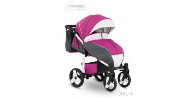 Camarelo Elf bērnu pastaigu rati col.XEL-4 white (pink/white frame)