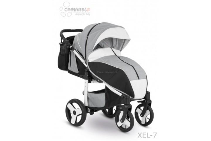 Camarelo Elf bērnu pastaigu rati col.XEL-7 white (denim grey/white frame)