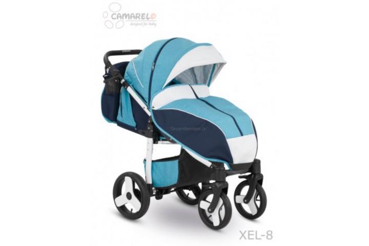 Camarelo Elf bērnu pastaigu rati col.XEL-8 white (denim blue/white frame)