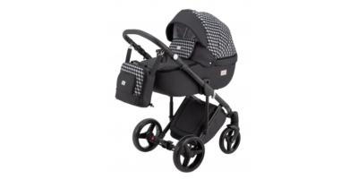 Adamex Luciano deco bērnu universālie ratiņi 3in1 col.dark grey/cube