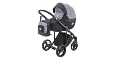 Adamex Luciano deco bērnu universālie ratiņi 3in1 col.dark grey/grey