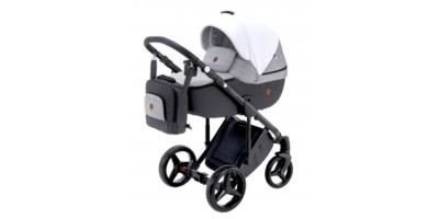 Adamex Luciano deco bērnu universālie ratiņi 3in1 col.dark grey/grey/White
