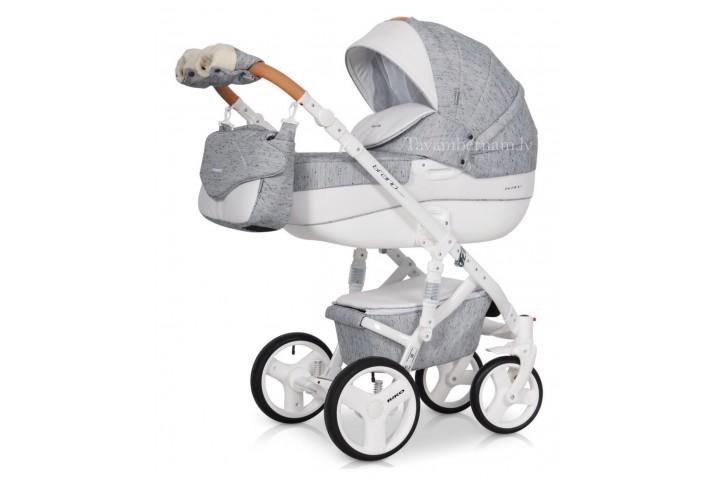 Riko Brano Luxe bērnu universālie ratiņi 3-1 col.05 Grey Fox (pelēka)
