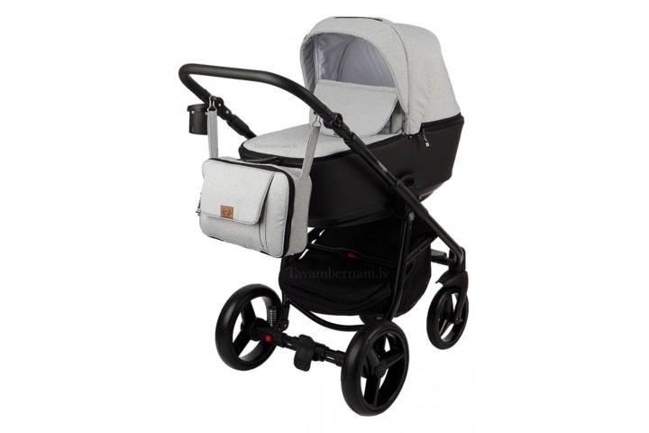 Adamex Reggio Premium bērnu universālie ratiņi 3in1 col.Y-58 (melna pelēka)