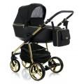 Adamex Reggio Special edition bērnu universālie ratiņi 3in1 col.Y-85 gold (melna)
