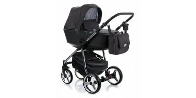 Adamex Reggio Special edition bērnu universālie ratiņi 3in1 col.Y-98 silver (melna)