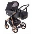 Adamex Reggio Special edition bērnu universālie ratiņi 3in1 col.Y-302 copper (melna)