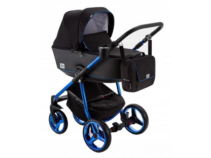 Adamex Reggio Special edition bērnu universālie ratiņi 3in1 col.Y-301 blue (melna)